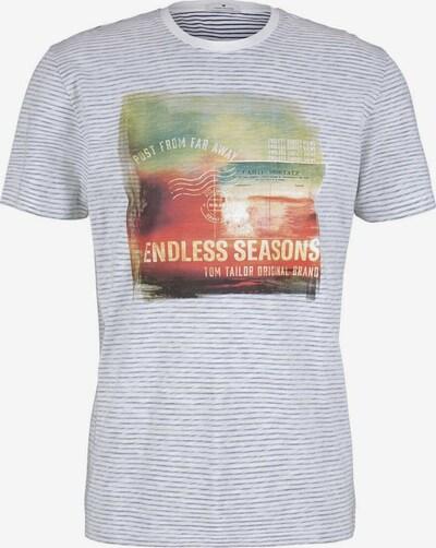 TOM TAILOR Shirt in de kleur Blauw / Gemengde kleuren / Wit, Productweergave