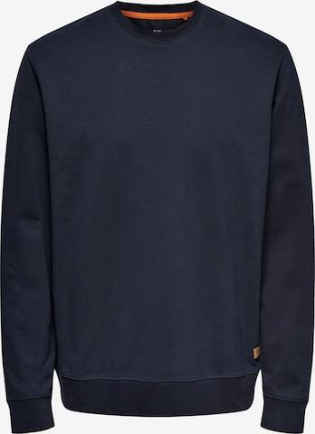 Only & Sons Sweatshirt 'Kenneth' in Blau