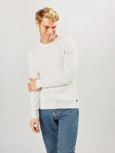 JACK & JONES Pullover in naturweiß: Frontalansicht