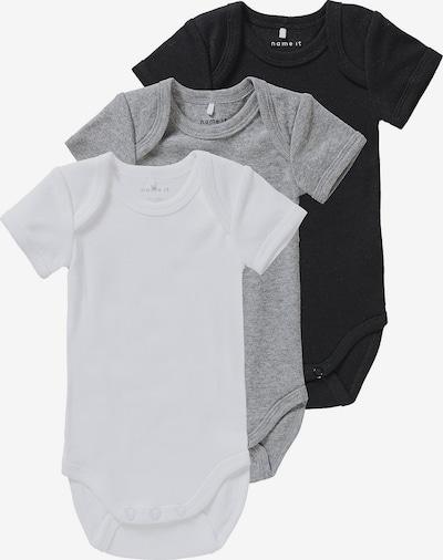 NAME IT Body in grau / schwarz / weiß, Produktansicht