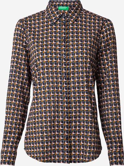 UNITED COLORS OF BENETTON Bluse en blau / dunkelblau / braun / rosa, Vue avec produit