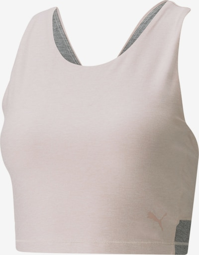 PUMA Haut de sport en gris chiné / rose, Vue avec produit