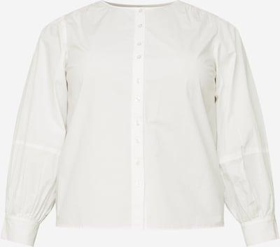 Bluză 'GERALDINE' PIECES (Curve) pe alb, Vizualizare produs