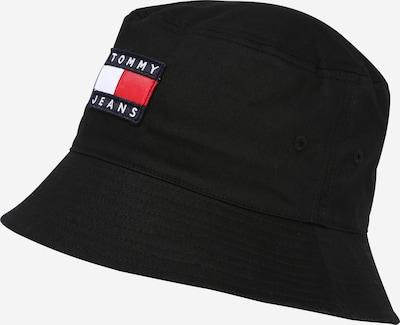 Tommy Jeans Шапка с периферия в тъмносиньо / червено / черно / бяло, Преглед на продукта