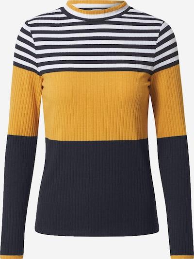 EDC BY ESPRIT Majica u plava / žuta / bijela: Prednji pogled