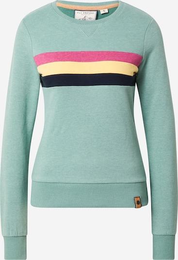 Fli Papigu Sweatshirt 'It is what it is' in Gold / Mint / Pink / Black, Item view
