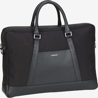 SANDQVIST Aktentasche ' Melker Twill Briefcase ' in schwarz, Produktansicht