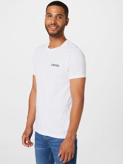 LEVI'S Shirt in dunkelgrün / weiß: Frontalansicht