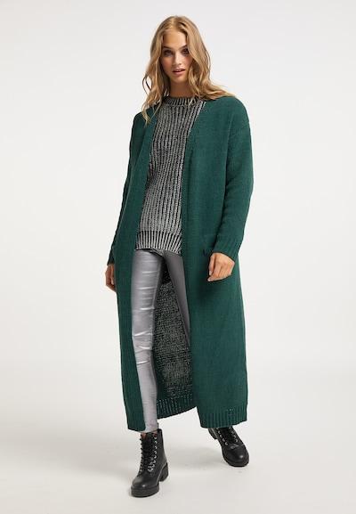myMo ROCKS Knitted coat in Dark green, View model