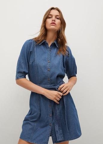 MANGO Shirt Dress 'Gaia-H' in Blue