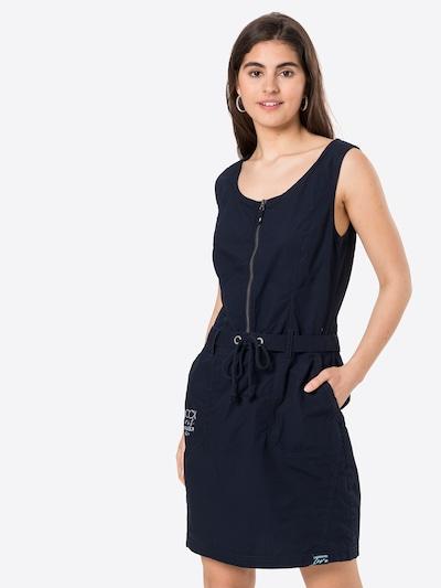 Soccx Kleid in blau / navy / weiß, Modelansicht