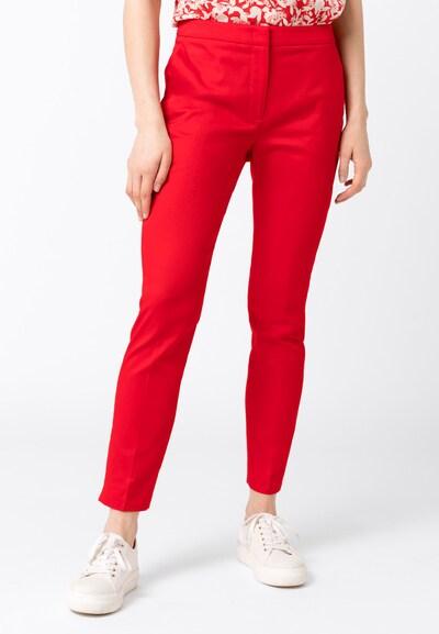 HALLHUBER Basic-Hose CHARLOTTE mit Bio-Baumwolle in rot, Modelansicht