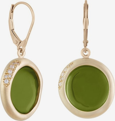 Zoccai Earrings in Gold / Olive, Item view