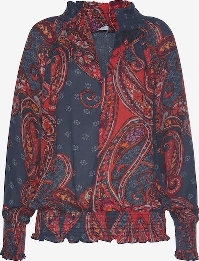 LASCANA Bluzka w kolorze niebieska noc / jasnoniebieski / ciemnofioletowy / pomarańczowy / czerwonym, Podgląd produktu
