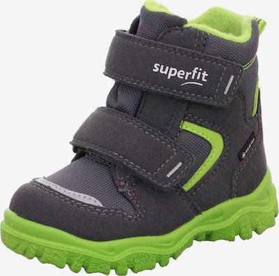SUPERFIT Sniega apavi 'Husky' pelēks / zaļš, Preces skats