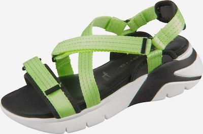 TAMARIS Sandale in neongrün / schwarz / weiß, Produktansicht