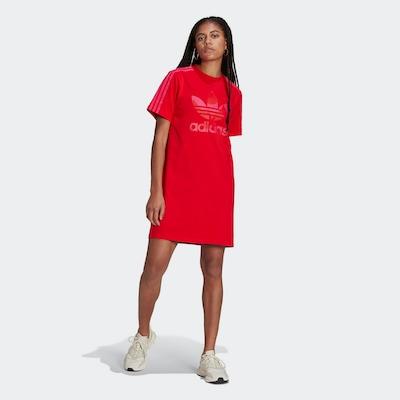 ADIDAS ORIGINALS Shirtkleid in rot, Modelansicht