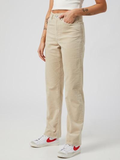 WEEKDAY Spodnie 'Rowe' w kolorze kremowym, Podgląd na modelu(-ce)