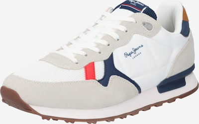 Pepe Jeans Baskets basses 'BRITT' en bleu marine / gris / rouge / blanc, Vue avec produit