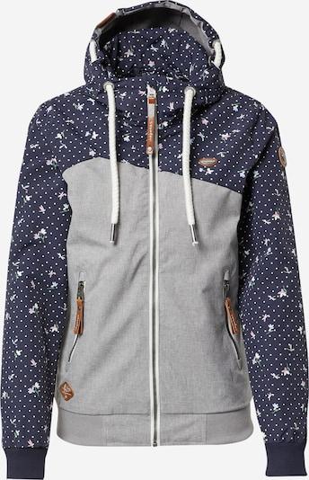 Ragwear Jacke 'Nuggie B' in dunkelblau / grau / rosa / weiß, Produktansicht