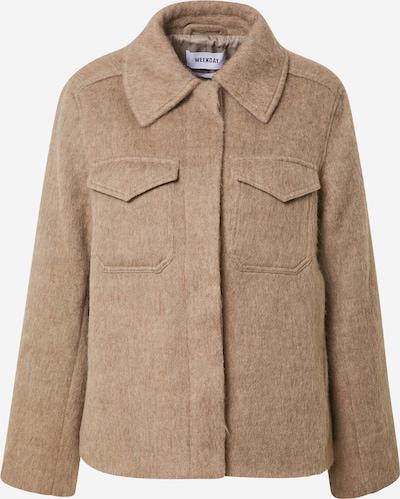 WEEKDAY Välikausitakki 'Isa Hairy Short Jacket' värissä beige, Tuotenäkymä