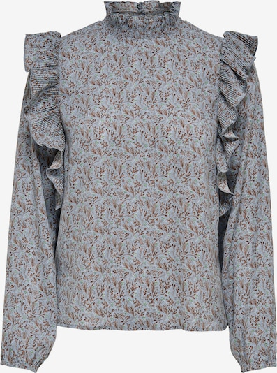 JACQUELINE de YONG Blouse 'Carmen' in Light blue / Auburn / Grey, Item view