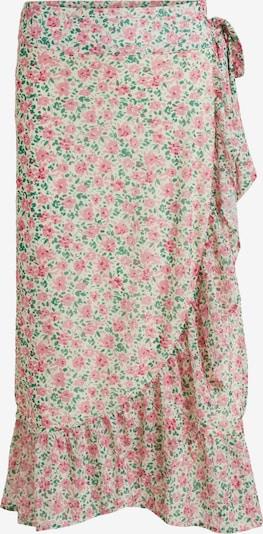VILA Jupe 'Volette' en beige / vert / rose, Vue avec produit