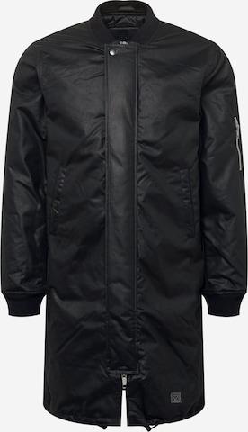 Brixtol Textiles Between-seasons coat in Black
