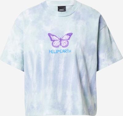 Obey Shirt in de kleur Lichtblauw / Lichtlila, Productweergave