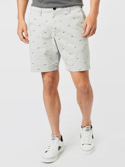 HOLLISTER Chino kalhoty - světle šedá / černá, Model/ka