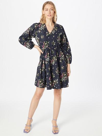 Y.A.S Kleid 'NULA' in dunkelblau / braun / grün / pink / weiß, Modelansicht