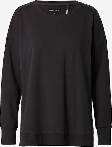 ESPRIT SPORT Sportsweatshirt i svart