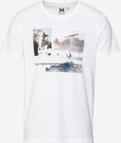 Hailys Men T-Shirt 'Marlon' en beige foncé / bleu clair / anthracite / rosé / blanc, Vue avec produit