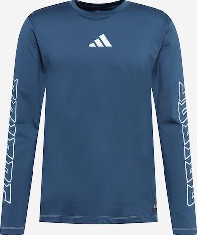 ADIDAS PERFORMANCE Функционална тениска в тъмносиньо / бяло, Преглед на продукта