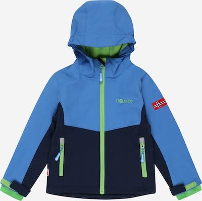 TROLLKIDS Outdoorjacke 'KRISTIANSAND' in blau / navy / neongrün, Produktansicht