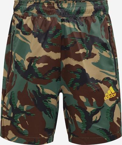 ADIDAS PERFORMANCE Pantalón deportivo en azul cobalto / marrón / verde / lima, Vista del producto