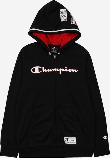 Champion Authentic Athletic Apparel Veste de survêtement en rouge clair / noir / blanc, Vue avec produit