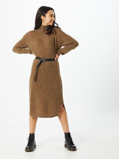 MOSS COPENHAGEN Úpletové šaty 'Calma' - hnědá, Model/ka