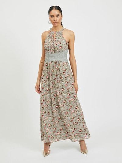 VILA Sommerkleid in pastellgrün / hellgrün / rosa / himbeer / weiß, Modelansicht