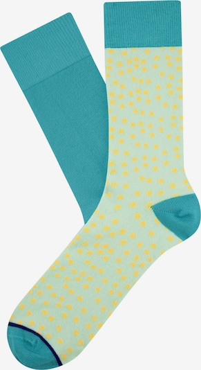 CHEERIO* Socks 'Tipsy Dots' in Turquoise / Ultramarine blue / Lime, Item view
