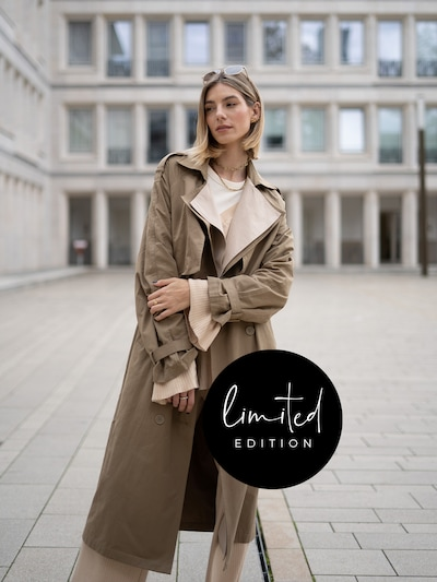 ABOUT YOU Limited Trenchcoat 'Justine' by Justine in beige, Modelansicht