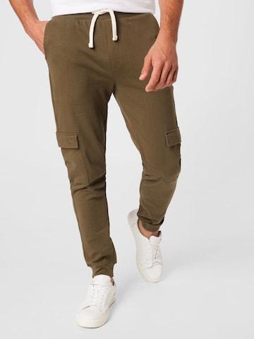 !Solid Klapptaskutega püksid, värv roheline