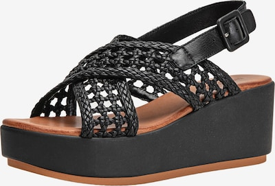 INUOVO Sandales en noir, Vue avec produit