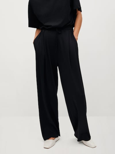 Pantaloni cutați MANGO pe negru, Vizualizare model