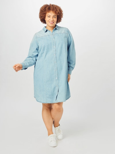 Zizzi Kleid 'JEMMA' in blue denim, Modelansicht