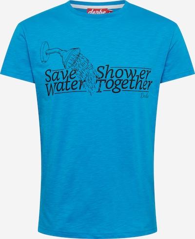 Derbe T-Shirt in türkis / schwarz, Produktansicht