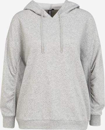 Pieces Petite Sweatshirt 'FRANCI' in Grau