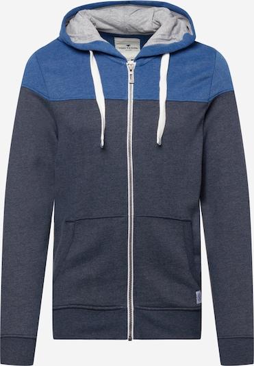 TOM TAILOR Sweatjacke in blau / dunkelblau, Produktansicht