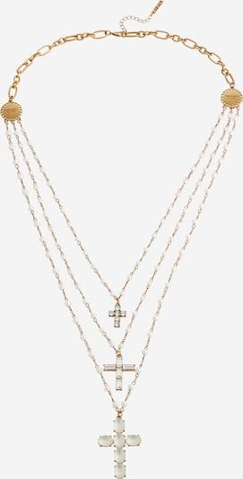 Twinset Chaîne en or / transparent / blanc perle, Vue avec produit