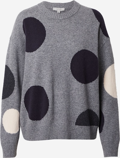 Pullover Ci comma casual identity di colore crema / grigio sfumato / nero, Visualizzazione prodotti